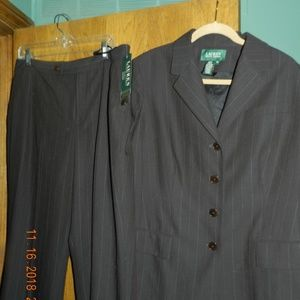 NWT Ralph Lauren Brown Pant Suit Separates